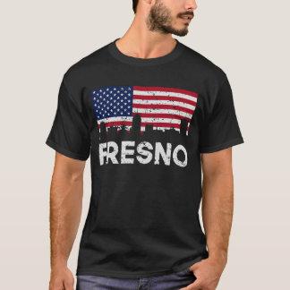 Camiseta Horizonte de la bandera americana de Fresno CA