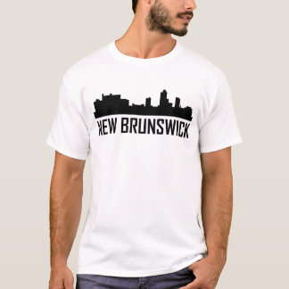 Camiseta Horizonte de la ciudad de Nuevo Brunswick New