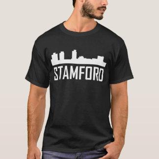 Camiseta Horizonte de la ciudad de Stamford Connecticut