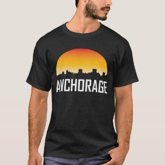 Camiseta Horizonte de la puesta del sol de Anchorage Alaska