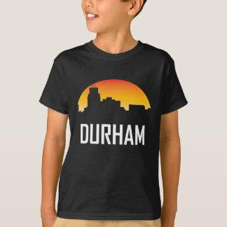 Camiseta Horizonte de la puesta del sol de Durham Carolina