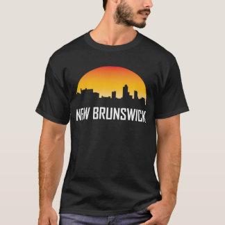 Camiseta Horizonte de la puesta del sol de Nuevo Brunswick