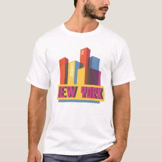 Camiseta Horizonte de neón de New York City el |