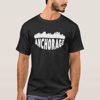 Camiseta Horizonte del paisaje urbano de Anchorage AK