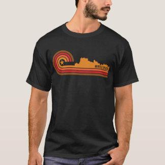 Camiseta Horizonte retro de Myrtle Beach Carolina del Sur