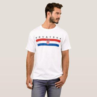 Camiseta Hrvatska largo del símbolo de la bandera de país