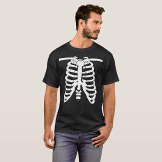 Camiseta Huesos esqueléticos blancos de la radiografía