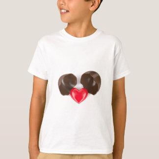 Camiseta Huevo y corazón de chocolate