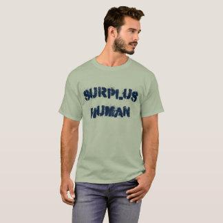 Camiseta humana de sobra