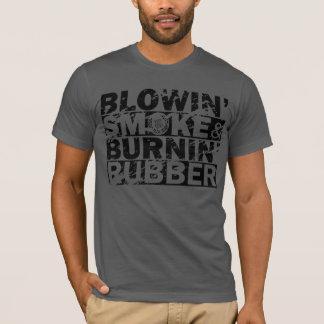 Camiseta Humo del soplo, caucho de la quemadura
