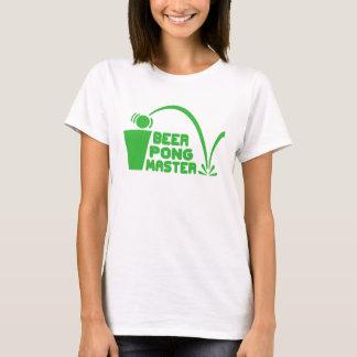Camiseta Humor de la camiseta, amo de Pong de la cerveza