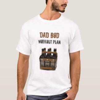 Camiseta Humor de las botellas de cerveza del plan del