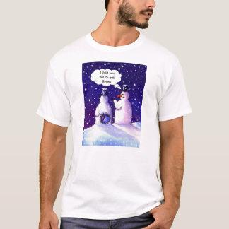 Camiseta Humor de los muñecos de nieve en su mejor
