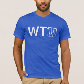Camiseta Humor WTF con el acorde de la guitarra F