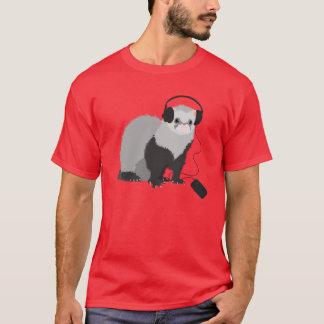 Camiseta Hurón del amante de la música para hombre