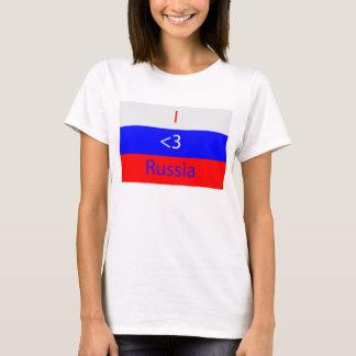 Camiseta I <3 Rusia