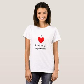 Camiseta I acuerdo del clima de París del corazón