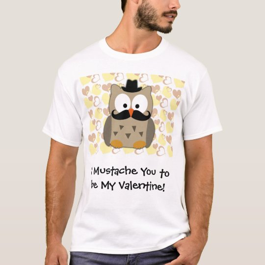 Camiseta I bigote usted a ser mi tarjeta del día de San