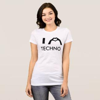 Camiseta I chicas T de Techno Mikey del corazón