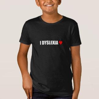 Camiseta I corazón del amor de la dislexia