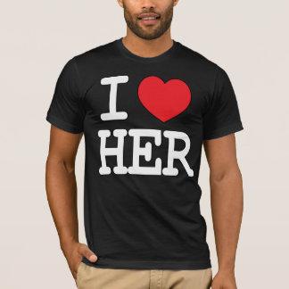 Camiseta I corazón ella