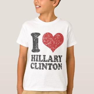 Camiseta I corazón Hillary Clinton retra