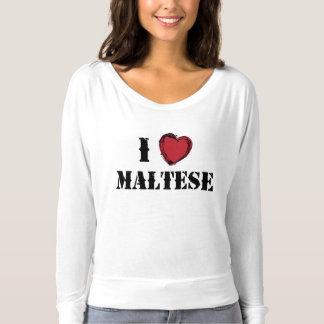 Camiseta I (corazón) maltés