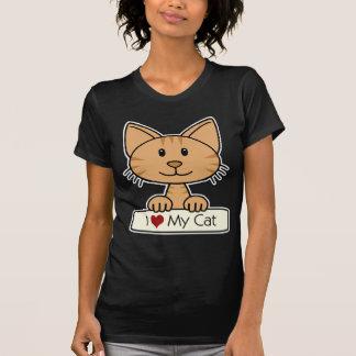 Camiseta I corazón mi gato