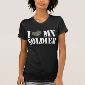 Camiseta I corazón mi soldado