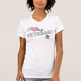Camiseta ¡I corazón mi veterano!