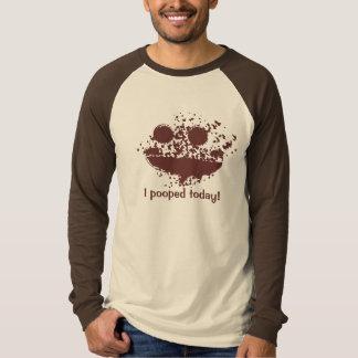 Camiseta I de Pooped diseño Brown Smutch del texto hoy