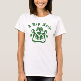 Camiseta I diseño del representante Naija con el escudo de