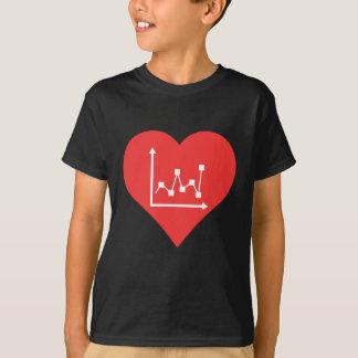 Camiseta I el corazón representa vector gráficamente