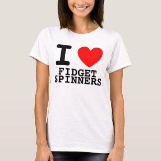 Camiseta I hilanderos de la persona agitada del corazón