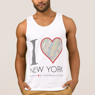 Camiseta I love New York. OpenStreetMap