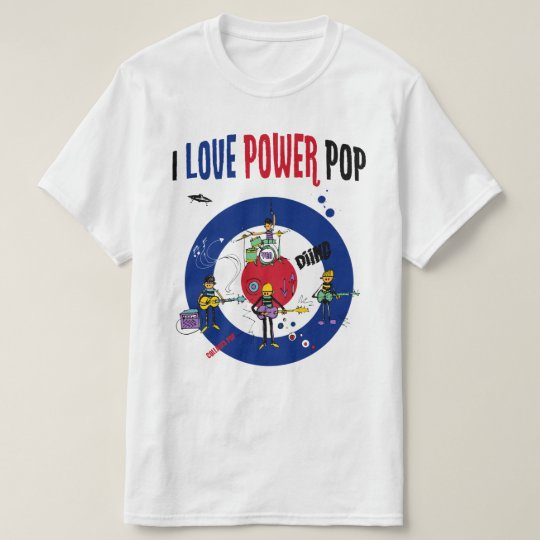 Camiseta I love powerpop -B