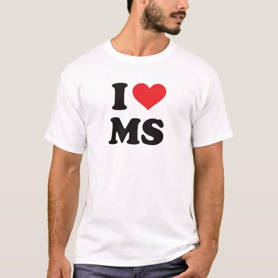 Camiseta I ms del corazón - Mississippi