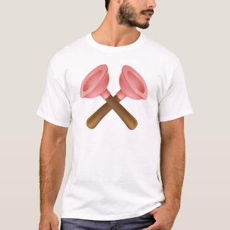 Camiseta Icono cruzado de las herramientas de los émbolos