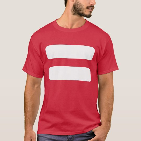 Camiseta Icono de los signos de igualdad
