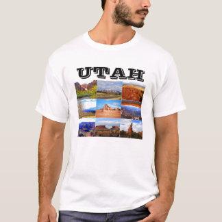 Camiseta Iconos del collage del paisaje de Utah