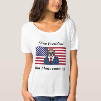 Camiseta ida desgarbado de la pereza