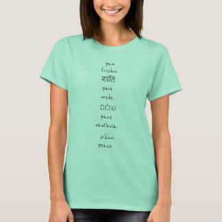 Camiseta Idiomas de la paz