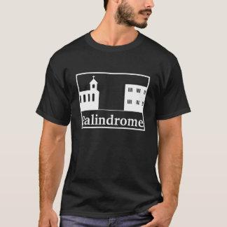 Camiseta Iglesia y prisión - texto blanco del Palindrome