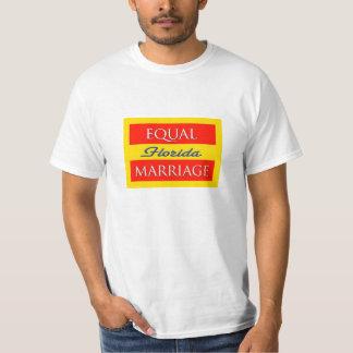 Camiseta igual de la Florida de la boda