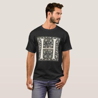 Camiseta iluminada vintage 2 de la letra H