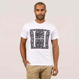 Camiseta iluminada vintage de la letra H