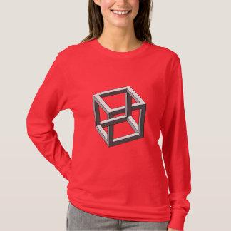 Camiseta Ilusión óptica - cubo imposible