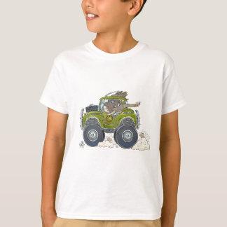 Camiseta Ilustracion del dibujo animado de un elefante que