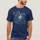 Camiseta Ilustracion del pulpo del vintage de la menta