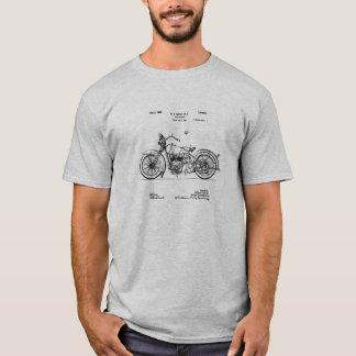Camiseta Imagen 1928 de la patente del ciclo de Harley